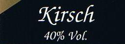 Etikett Kirschbrand