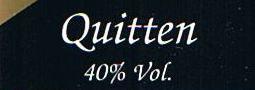 Etikett Quittenbrand
