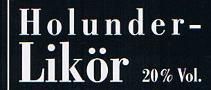 Etikett Holunder-Likör