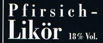 Etikett Pfirsich-Likör