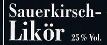 Etikett Sauerkirsch-Likör