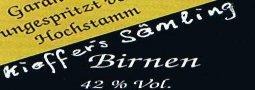 Etikett Birnbrand von Kieffers Sämling
