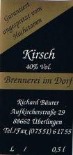 Etikett Kirschbrand - 0,5 l