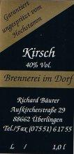 Etikett Kirschbrand - 1,0 l