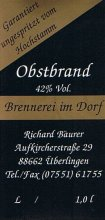 Etikett Obsbrand - 1,0 l