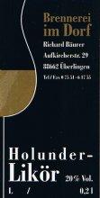Etikett Holunder-Likör - 0,2 l