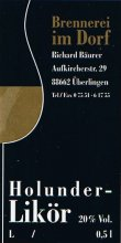 Etikett Holunder-Likör - 0,5 l