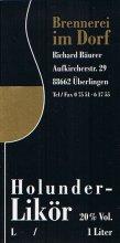 Etikett Holunder-Likör - 1,0 l