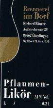 Etikett Pflaumen-Likör - 0,2 l