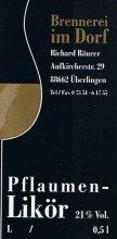 Etikett Pflaumen-Likör - 0,5 l