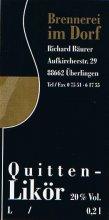 Etikett Quitten-Likör - 0,2 l