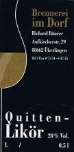 Etikett Quitten-Likör - 0,5 l