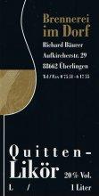 Etikett Quitten-Likör - 1,0 l