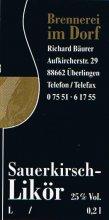 Etikett Sauerkirsch-Likör - 0,2 l