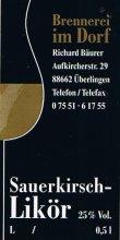 Etikett Sauerkirsch-Likör - 0,5 l