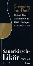 Etikett Sauerkirsch-Likör - 1,0 l