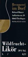 Etikett Wildfrucht-Likör - 0,2 l