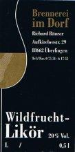 Etikett Wildfrucht-Likör - 0,5 l